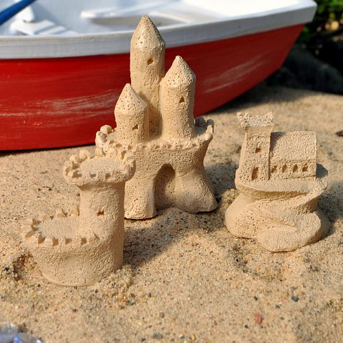 Miniature Fairy Garden Sandcastle Sculptures, Set of 3