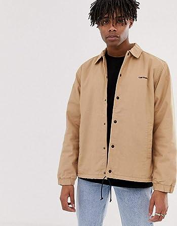 カーハート ジャケット メンズ Carhartt WIP Canvas coach jacket in dusty brown [並行輸入品]