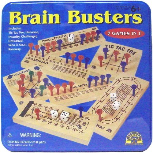First Learning Brainbusters 7 Games in 1 Tin