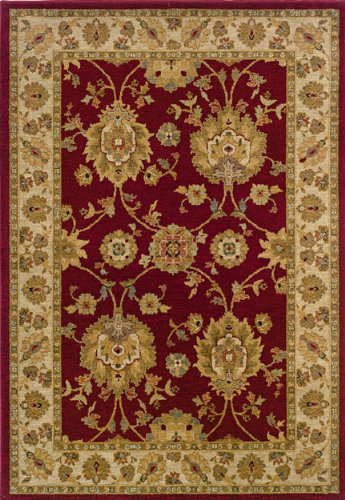 "1'11"" x 7'6"" Runner Oscar Isberian Rugs Rug Red/Beige Color Machine Made USA ""Infinity Collection"""