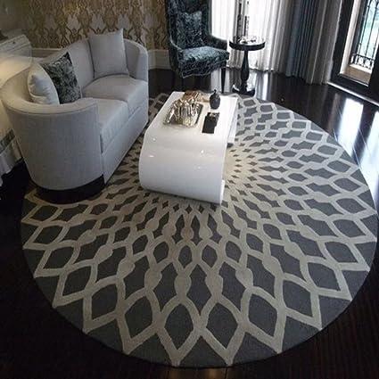 Mesa de centro redonda alfombra no-alfombra absorbente deslizante sala de estar estudio de dormitorio de café-B diámetro160cm(63inch)
