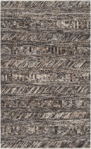 9' x 13' Desert Winds Khaki, Brown and Gray Braided Texture Wool Area Throw Rug