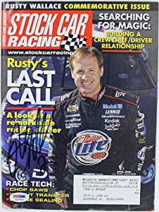 RUSTY WALLACE NASCAR AUTHENTIC SIGNED 2005 STOCK CAR RACING MAGAZINE AUTOGRAPH...