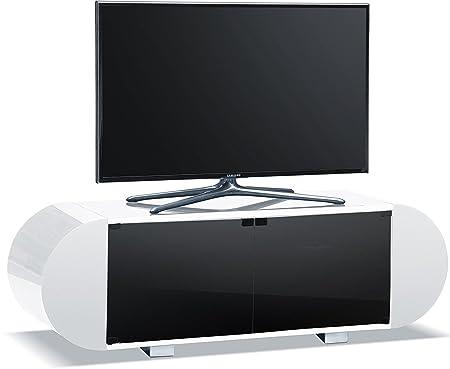 Centurion supporta Andora morbido ovale bianco lucido Remote friendly beam-thru 66- 152,4cm TV a schermo piatto cabinet