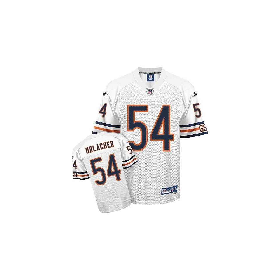 1fcdf682d Chicago Bears Brian Urlacher White Replica Football Jersey on PopScreen