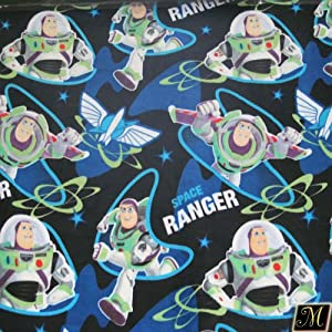 60 wide disney toy story space ranger fleece for Space fabric by the yard