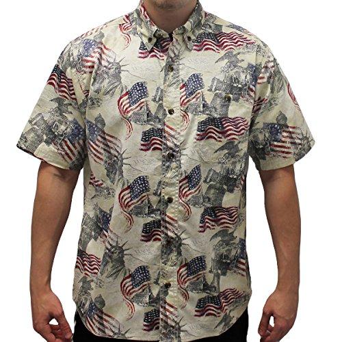Patriotic hawaiian shirts for Patriotic button up shirt
