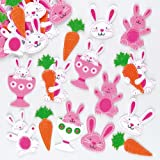 Easter Bunny Carrot Felt Stickers for Children to Decorate Cards Crafts and Collage Pack of 80