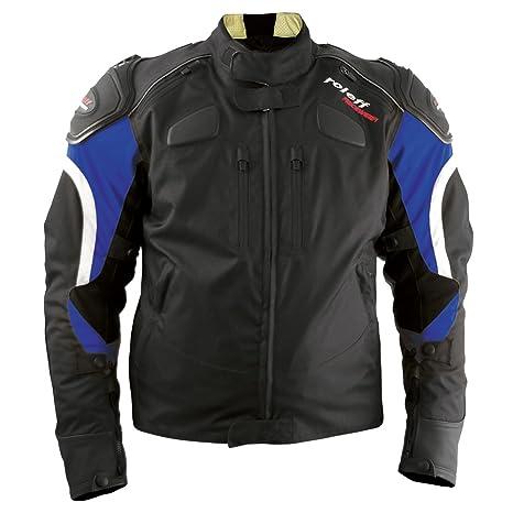 Roleff Racewear 3272 Blouson Moto Textile Sports, Noir/Bleu, S