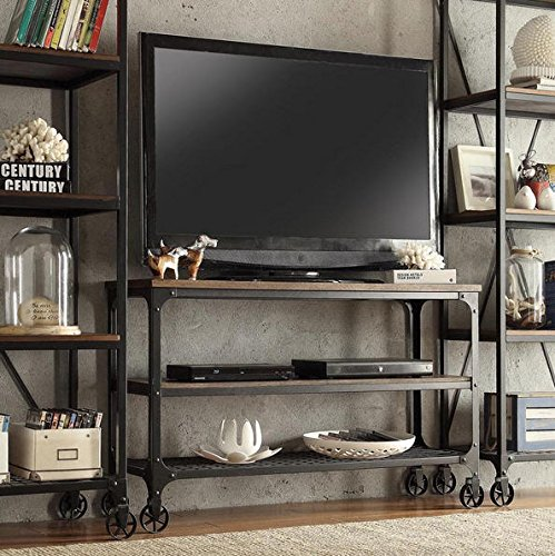 INSPIRE Q Nelson Industrial Modern Rustic Console Sofa Side Table TV Stand for Living Room (Industrial Console compare prices)