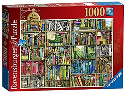 2x Ravensburger The Bizarre Bookshop 1000pc Jigsaw Puzzle