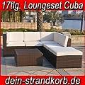 Polyrattan Loungeset Loungemöbelset in mehreren Varianten verfügbar von XINRO® - Gartenmöbel von Du und Dein Garten