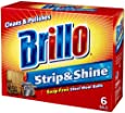 Brillo Strip and Shine Steel Wool Balls, 6 Count