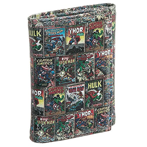 Marvel Comics Mens Leather Printed Superhero Character Trifold Wallet