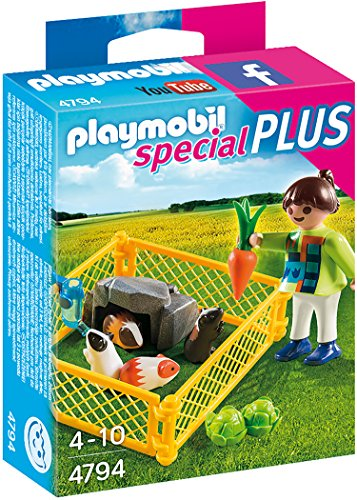 PLAYMOBIL Girl and Guinea Pigs Building Kit