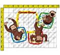 Curious George-Let's Celebrate Add Your Picture Photo Frame Edible Image Cake Topper
