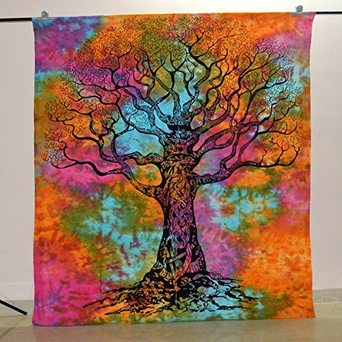 Indian-Hippie-Tapestry-Tree-Of-Life-Wall-Hanging-Bohemian-Wall-Tapestry-Dorm-Decor-Bedding-Beach-Blanket-Throw-55-X-85-Inches-139-X-215-cm