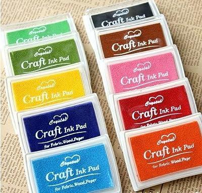 Craft Ink Pad Set 10 Pcs Korea Stamps Partner Diy Color