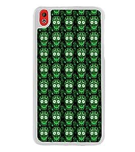 ifasho Designer Phone Back Case Cover HTC Desire 816 :: HTC Desire 816 Dual Sim :: HTC Desire 816G Dual Sim ( Colorful Dog Face Tribal Pattern Design )