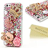 Iphone 6 Case,Iphone Case - Mavis's Diary 3D Handmade Bling Crytal Full Diamond Luxury Series Cute Pumpkin Car...