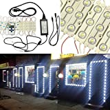GOESWELL LED Store front Light Cool White 3led 5630 LED Injection Module Advertising Light with Mini RF Remote Dimmer and 12V 6A Power package