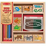 Melissa & Doug Wooden Stamp Set - Pets