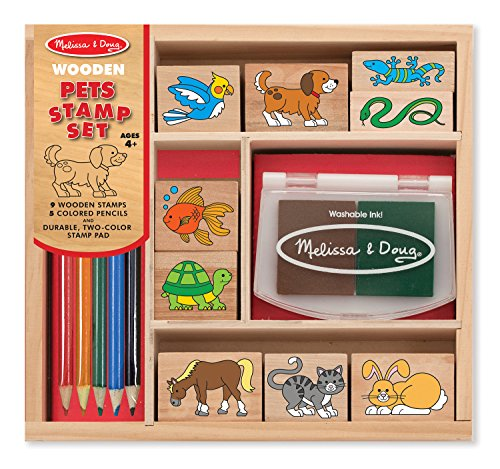 Melissa & Doug Wooden Stamp Set - Pets