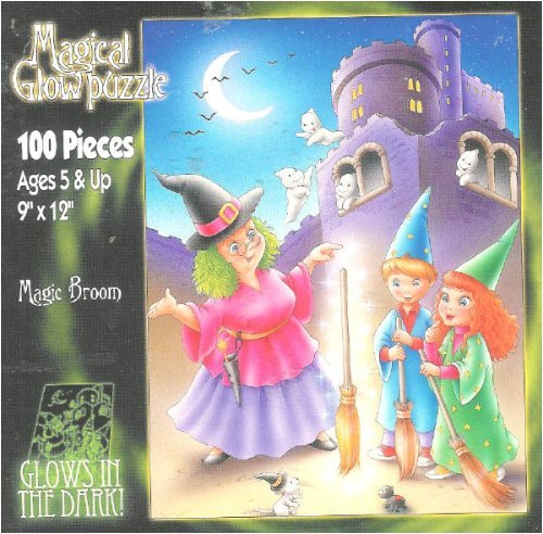 Magical Glow in the Dark Puzzle Magic Broom 100 Pieces - 1