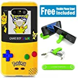 [Ashely Cases] LG V20 Cover Case Skin with Flexible Phone Stand - Pokemon Gameboy yellow (Color: Multi)