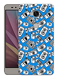 """Humor Gang Camera Eyes - Blue Printed Designer Mobile Back Cover For """"Huawei Honor 5X"""" (3D, Matte, Premium Quality Snap On Case)"""