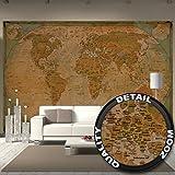 Fototapete Historische Weltkarte Wand-dekoration - Wandbild...