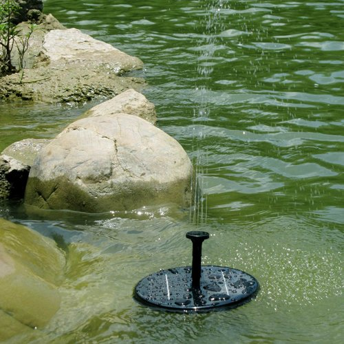 3 Spray Head Solar Pump Garden Fountain Pond Water Feature / Solar Powered Fountain Pump Kit for Fountains, Waterfalls and Water Displays / a Integrated One, No Separate Solar Panel and No Cable