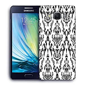 Snoogg Grey Color Pattern Printed Protective Phone Back Case Cover For Samsung Galaxy A5
