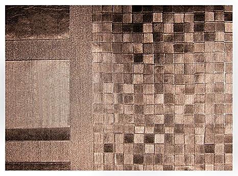 Linea Hogar Deco, Mantel de tejido técnico metalizado decorativo - New Tresor, Ref. Láser Cairo Brown, 137cm x 20m