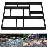 go2buy 10 Grid Garden Patio Black Pathmate Stone Mould Pavement Concrete Stepping Stone Paver Walk Way, Size:23.8