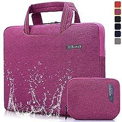 Brinch 15, 15.6-Inch Waterproof Laptop Case Bag with Handle for Apple Macbook, Chromebook, Acer, Asus, Dell, Fujitsu, Lenovo, HP, Samsung, Sony, Toshiba - Purple