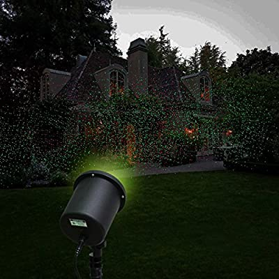 Mykubi Waterproof Red & Green Dual Laser Landscape Projector Light for Garden/tree/outdoor Wall Decoration and Christmas Holiday Decoration