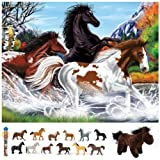 Melissa & Doug Horses Floor Puzzle with Horses Toob Set of 3 Items
