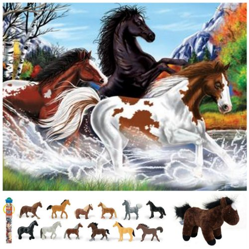 Cheap Bundles of Fun Melissa & Doug Horses Floor Puzzle with Horses Toob Bundle of 3 Items with **BONUS** by Bundles of Fun (B0052AT6NA)