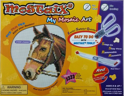 Pony Styling Set Sequin Art Beads Horse Mosaic Craft Kits