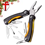 Grand Way Mini Utility Multitool with Knife and Pliers - Best Small Multi Purpose Tool with All in One Tool Set - Everyday Universal Knife for Camping