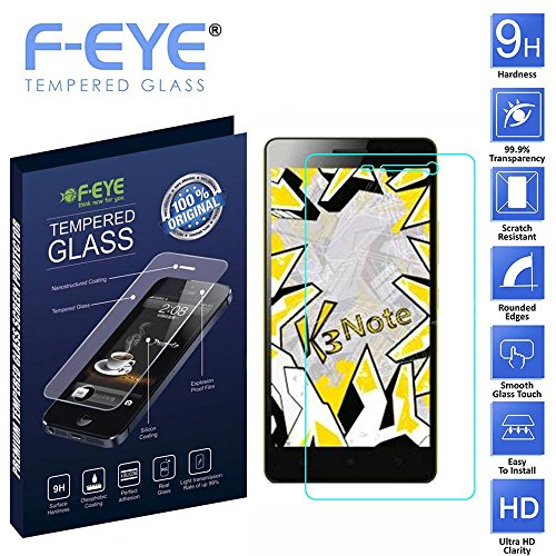 F-EYE® Lenovo K3-Note Tempered Glass, Premium Ultra Clear Screen Protector, 0.33mm thickness, 2.5D Rounded Edge 9H Hardness, Made From Real Tempered Glass, Shatterproof, Anti-Scratch Bubble-free, Oleophobic Coating, Safety Packing And Easy To Install In Your Smart Phones [Lenovo K3-Note]