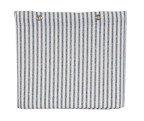 Sturdy Cotton Duck Shower Curtain Made In Usa Tub Size Blue Ticking Stripe