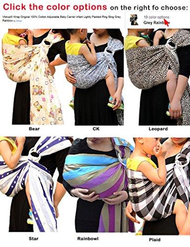 Vlokup-Baby-Ring-Sling-Carrier-for-Newborn-Original-Adjustable-Infant-Lightly-Padded-Wrap-Breastfeeding-Privacy-100-Cotton