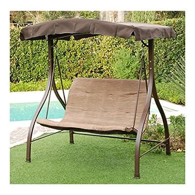 SALMAR - HAITI - Hollywoodschaukel 2 Plätze - Braun - von SALMAR - Gartenmöbel von Du und Dein Garten
