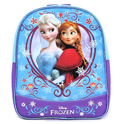 Disney Frozen Princess Elsa and Anna School Backpack Purple 11 Inch