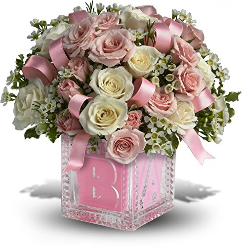Birthday Flowers – Baby's First Block by Teleflora – Pink