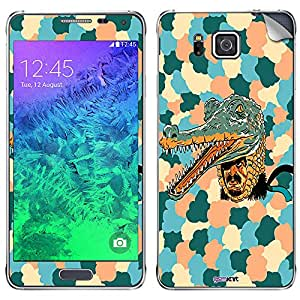 GsmKart SGA Mobile Skin for Samsung Galaxy Alpha (Green, Galaxy Alpha-550)