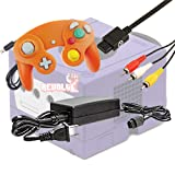 Gamecube Video Game Console Starter Kit by REVOLT Gamer - Original Type Wired Gamepad Controller, AC Adapter, and AV Composite Cable (Orange) (Color: Orange)