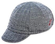 Pace Merino Wool Euro Cap, Herringbone, One Size